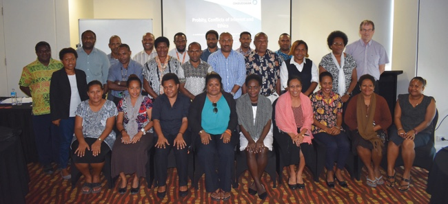Image of conflict of interest training and technical support for Ombudsman Commission of Papua New Guinea staff, delivered under the PNG Twinning Program in Port Moresby, November 2017